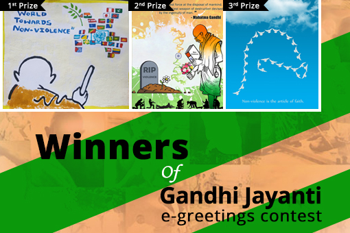 Congratulations to the winners of Gandhi Jayanti e-greetings contest