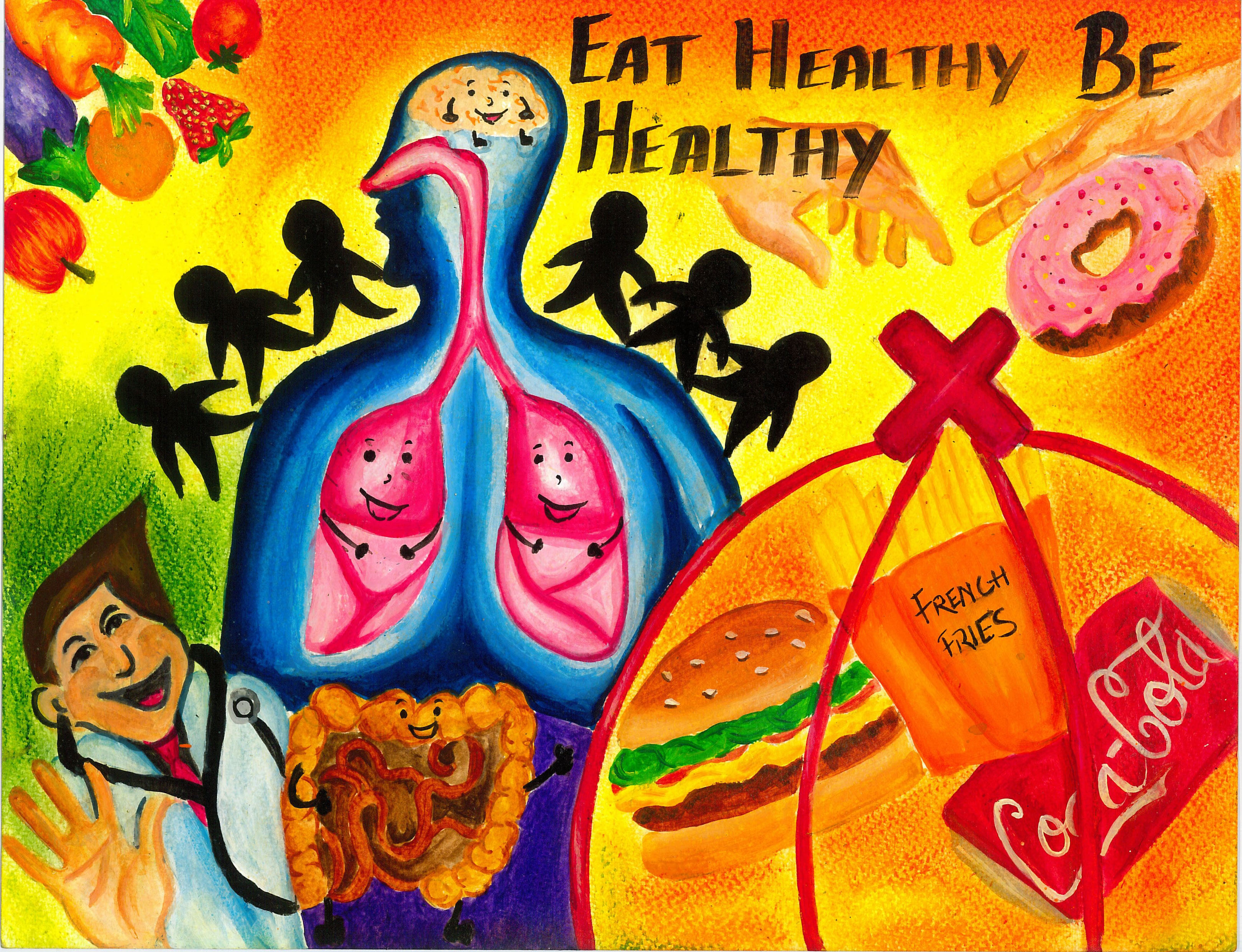 the doctor recommends that one should eat healthy food rather than junk food for your safe and healthy living