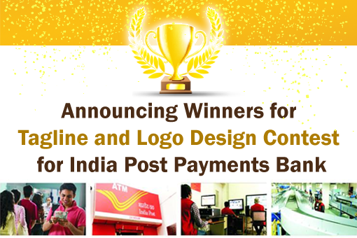 Announcing Winners for Tagline and Logo Design Contest for India Post Payments Bank