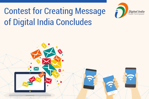 Contest for Creating Message of Digital India concludes