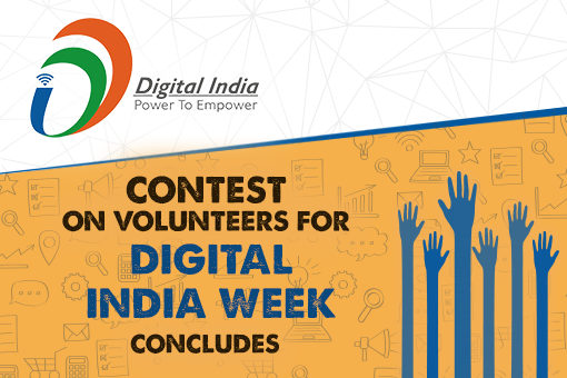 Contest on Volunteers for Digital India Week concludes