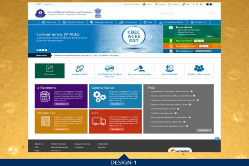 Vote for your favourite design for new portal of CBEC and GST Site