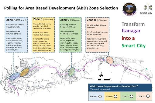 Area Based Development (ABD) Zone Selection Poll for Itanagar Smart City